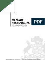 Discurso Sebastián Piñera 21 de Mayo 2013