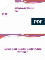 speaking - informative speech about handwashing