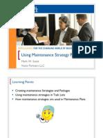 2602 Using Maintenance Strategy Plans (1)