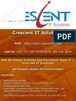 SAP BO Online Training and Placement