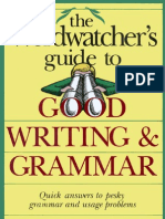 7581161 Freeman Morton S the Wordwatchers Guide to Good Writing Grammar 1990