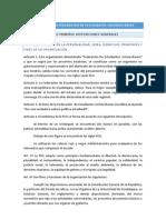 Estatuto de La Federacion de Estudiantes Universitarios