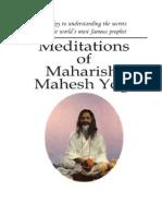 Meditatons of Maharishi Mahesh Yogi - MAHARISHI MAHESH YOGI
