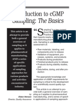 A Pocket Guide to cGMP Sampling