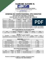 Lista de Precios Marzo 2009