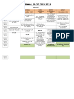 Jadwal Blok Dms 2012