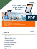 Horizon Patient Folder Mobile Deficiency Completion