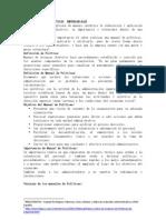 MANUAL BÁSICO DE POLÍTICAS  EMPRESARIALES