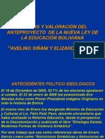 ANTEPROYECTO LEY AVELINO SIÑANI-ELIZARDO PEREZ