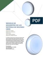 MEDIDAS DE DESEMPEÑO DE LOS SISTEMAS DE SEGUNDO ORDE