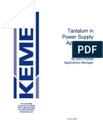 Tantalum in Power Supply Applications