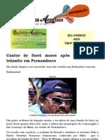 Cantor de forró morre após acidente de trânsito em Pernambuco.docx