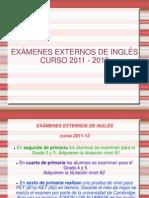 EXPLICACION PRUEBAS EXTERNAS INGLÉS