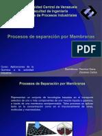 Procesos de Separación por Membranas