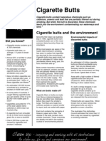 Cua Cigarette Butts Fact Sheet