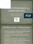 Como entendemos la participación