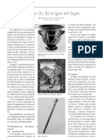 El fagot. El origen del fagot. Por Joaquim Vicent Vidal Martínez