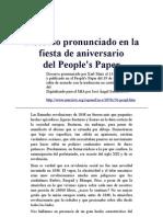Marx - Discurso pronunciado en la fiesta de aniversario delPeople's Paper