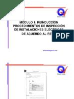 MÓDULO 1 - REINDUCCIÓN PROCEDIMIENTOS DE INSPECCIÓN DE INSTALACIONES ELÉCTRICAS DE ACUERDO AL RETIE