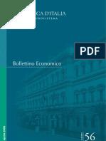 Banca D'Italia - Bollettino Economico n°56 Aprile 2009