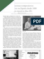 El clarinete en España desde 1800 hasta nuestros días (II), por Pedro Rubio Olivares