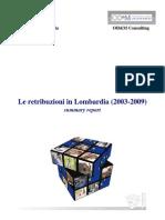 Rapporto Retribuzioni in Lombardia  summary 2003-2009