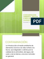 Contaminacion Ambiental, Efectos e Indicadores de Calidad