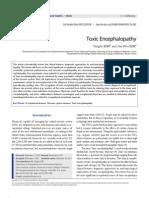 Toxic Encephalopathy