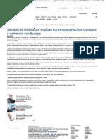 23-05-13 Senadoras evaluan convenios de DH y  comercio con Europa - Diario Vasco