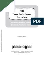 40 Fun-Tabulous Math Puzzles