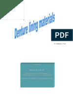 Denture Lining Materials