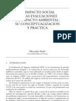 El Impacto Social en Las Evaluaciones de Impacto Ambiental Su Conceptualizacion y Practica