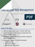 AQP Critical Tasks November2011