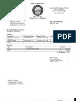 Britesol LLC Foreign Limited Liability Doc