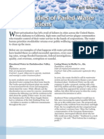 Case Studies of Failed Water Privatizations