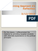 Learning Segment 2 Reflection