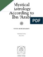 Titus Burckhardt Mystical Astrology According to Ibn Arabi