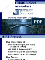 BIRT Multi Select Parameters
