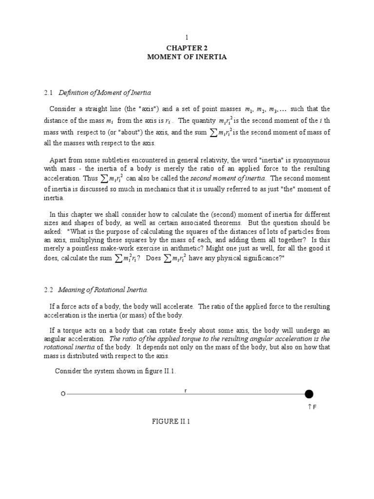 Class2 moment of inertia eigenvalues and eigenvectors torque biocorpaavc