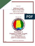 Jefferson County Board of Education Audit Oct. 2011 - Sept. 2012