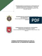 Norma interprofesional para el ejercicio de la función de comisario.