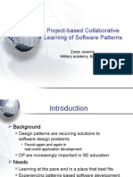 Project-based Collaborative Learning of Software Patterns