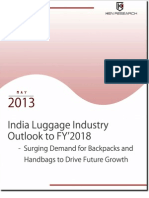 India Luggage Industry Outlook to FY'2018_Sample Report