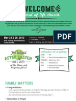 Church Bulletin for May 24 & 26, 2013