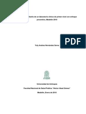 secciones de un laboratorio clinico pdf