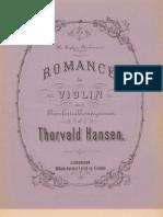 Thorvald Hansen Romance Pour Le Violon Ed