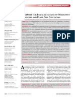 Cyberknife Treatment of Brain Metastases of Malignant Melanoma and Renal Cell Carcinoma