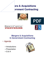 M&A Mergers & Acquisitions in Government Contracting