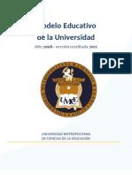 Modelo Educativo de La UMCE V