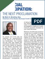 Financial Emancipation the Next Proclamation
